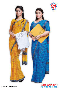 Doctor Uniform Sarees Catalog