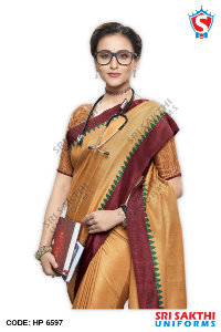 Doctor Uniform Saree Catalogs