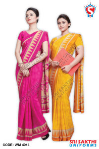 Peach Crape Sarees Supplier