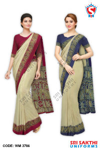 Plain Uniform Sarees Catalog
