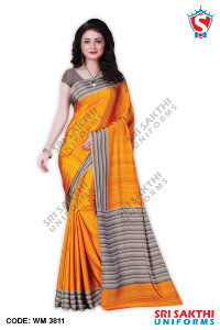 Plain Uniform Sarees Catalogs