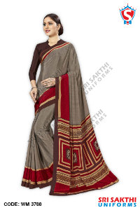 Plain Uniform Sarees Manufacturer