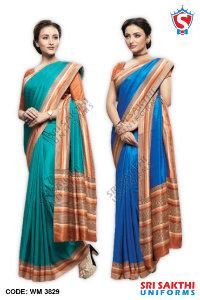 Plain Uniform Sarees Manufacturers