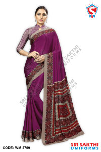 Plain Uniform Sarees Supplier