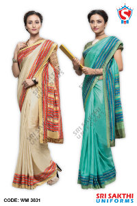 Plain Uniform Sarees Suppliers