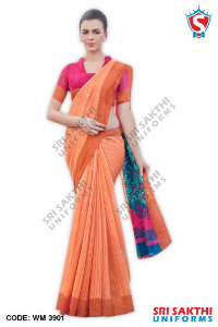 Silk Cotton Uniform Sarees Catalogs