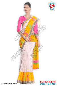 Silk Cotton Uniform Sarees Dealer