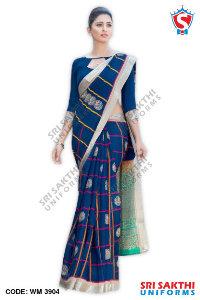 Silk Cotton Uniform Sarees Distributor