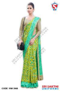 Silk Cotton Uniform Sarees Retailer