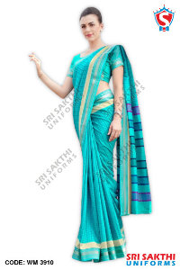 Silk Cotton Uniform Sarees Supplier