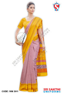 Silk Cotton Uniform Sarees Suppliers