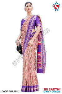 Silk Cotton Uniform Sarees Wholesaler