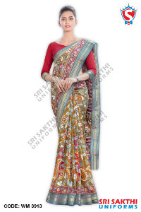 Silk Cotton Uniform Sarees Wholesalers