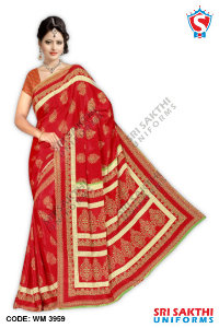 Silk Crape Uniform Saree Dealer