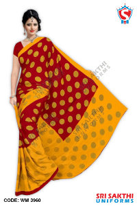 Silk Crape Uniform Saree Dealers