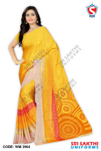 Silk Crape Uniform Saree Retailers
