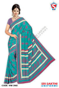 Silk Crape Uniform Sarees Catalog