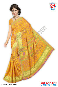 Silk Crape Uniform Sarees Dealer