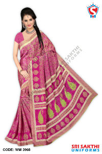 Silk Crape Uniform Sarees Dealers