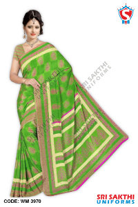 Silk Crape Uniform Sarees Distributors