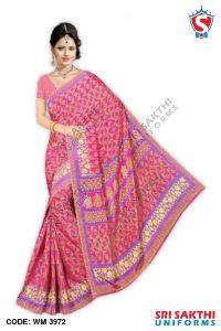 Silk Crape Uniform Sarees Retailers