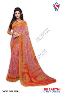 Staff Uniform Sarees Wholesalers