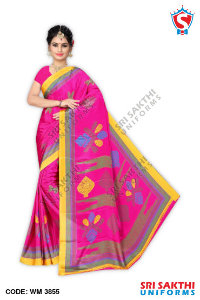 Turkey Crape Uniform Sarees Catalog