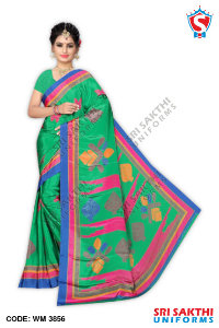Turkey Crape Uniform Sarees Catalogs