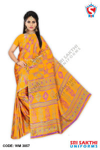 Turkey Crape Uniform Sarees Dealer