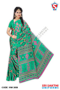 Turkey Crape Uniform Sarees Dealers
