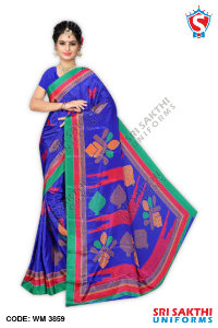 Turkey Crape Uniform Sarees Distributor