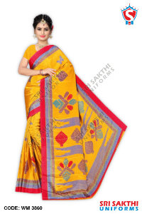 Turkey Crape Uniform Sarees Distributors