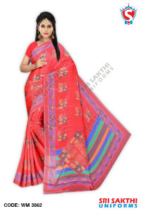 Turkey Crape Uniform Sarees Manufacturers