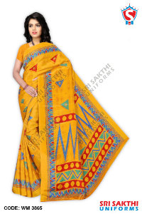 Turkey Crape Uniform Sarees Supplier