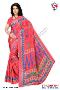 Turkey Crape Uniform Sarees Suppliers