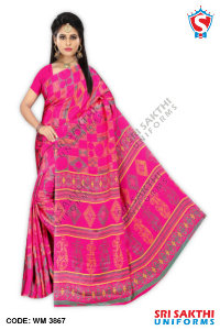 Turkey Crape Uniform Sarees Wholesaler