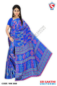 Turkey Crape Uniform Sarees Wholesalers