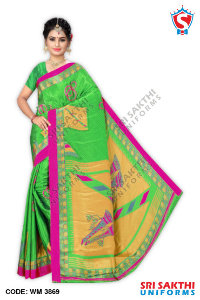 Turkey Crape Uniforms Sarees Catalog