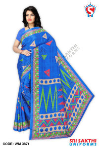 Turkey Crape Uniforms Sarees Dealer