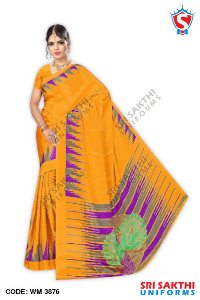 Turkey Crape Uniforms Sarees Manufacturers