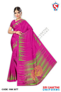 Turkey Crape Uniforms Sarees Retailer