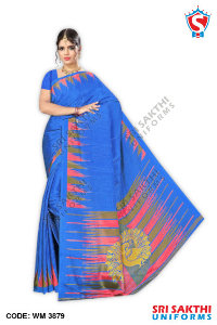 Turkey Crape Uniforms Sarees Supplier