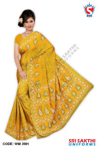 Wholesaler Silk Crape Saree