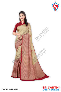 Womens Plain Sarees